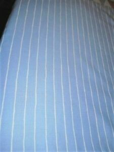 "CHARTER CLUB BED SKIRT BLUE STRIPE KING SIZE COTTON SATEEN QUAILITY 16"" DROP"