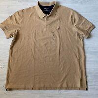 new Nautica Tan Shirt Polo Short Sleeve Mens Size 3xl