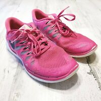 Nike Free 5.0 Womens Sz 9 Pink Gray Running Training Shoes Sneakers