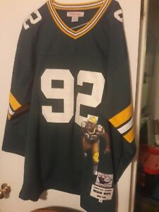 Reggie White Green Bay Packers Mitchell & Ness Throwbacks Jersey w/ Image sz 56