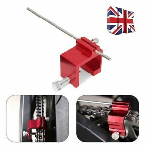 Motorcycle Bicycle Motorbike Chain Sprocket Alignment Tool ATV Biker - Red Color