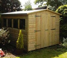 12x8 Tanalised Loglap Wooden Garden Shed 12tx8 Tanalised Pressure Treated Shed