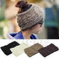 Chic Women Knitted Empty Skull Beanie HeadBand Warm Hat Girl Lady Winter Ski Cap