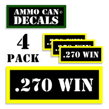 "270 WIN Ammo Can Labels Ammunition Case 3""x1.15"" stickers decals 4 pack BLYW"