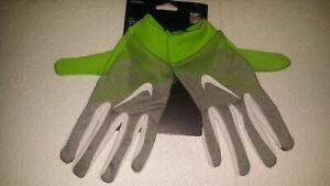 Nike Stadium Football Gloves NFL Seattle Seahawks Sz XL Lime Green/Grey New