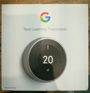 Google Nest Learning Smart Thermostat (3rd Generation, Silver) Uk Model
