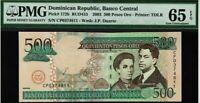 2003 500 PESOS ORO DOMINICAN REPUBLIC PMG 65 EPQ GEM UNCIRCULATED!
