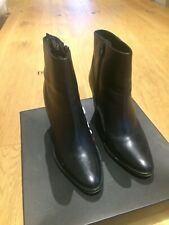 Dune Black Leather Ankle Boots Size 5 (38)
