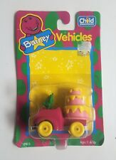 Vintage BARNEY Vehicles -  Baby's Bop's Birthday Mobile (New) Die Cast Car