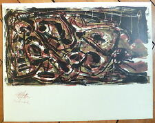 Saura Antonio Lithographie originale vers 1960 art abstrait abstraction