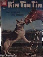 RIN TIN TIN Comic Book SECRET GOLD OF THE CHINNAMUK - G/VG - Dell, 1956