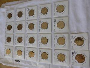 Australian $1 dollar commemorative coin collection 1986 to 2020 UNC coins set