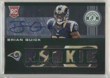 2012 Totally Certified Platinum Green /5 Brian Quick #206 Rookie Auto