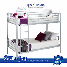 Metal Twin over Twin Bunk Beds Frame Ladder Kids Adult Children Dorm Bedroom