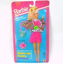 Barbie Make-Up Pretty Fashions Set 12438 Lipgloss Vintage 90s MOC Pink Outfit