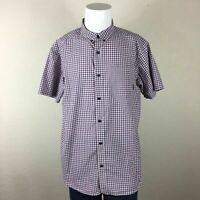 Mens Columbia Checkered Short Sleeve L Button Up Shirt
