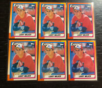 Larry Walker RC Lot(6) 1990 Topps #757 Montreal Expos