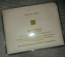 Lot 2 MARY KAY Beauty Blotters Oil-Absorbing Tissues 75 Count NEW Reusable Pkg