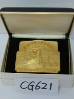 JOHN DEERE BELT BUCKLE THE TRADITION CONTINUES 4895/5000 PLOW 3 ROW 1996 4895