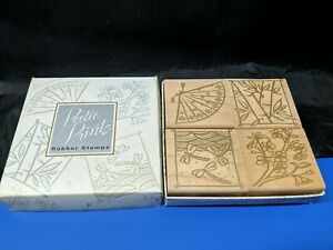 Japonesque Symbols Rubber Stamp Set ~ Poetic Prints Hero Arts