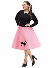 Pink Black 1950S Poodle Skirt Adult Plus Size Womens Halloween Costume