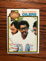 1979 Topps #246 Billy Johnson Football Card Houston Oilers NFL Raw