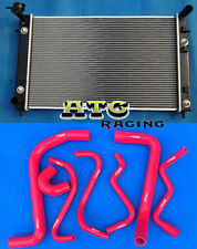 RADIATOR HOLDEN COMMODORE VT (SERIES 1 AND 2) VX V6 AT 2 Oil Cooler + HOSE RED