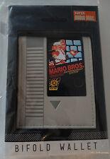 Super Mario Bros. Cartridge Nintendo Nes Video Game Gift Box Bifold Wallet Nwt