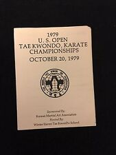 1979 Us Open Tae Kwondo, Karate Championship Program