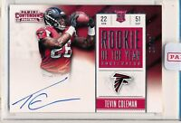 TEVIN COLEMAN - 2015 Contenders Rookie of Year Contender SP /49 - Falcons RC
