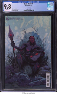 Black Manta #1 CGC 9.8 - Chuck Brown story, Sanford Greene Variant cover