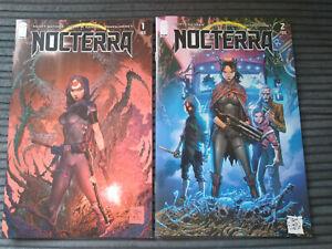 IMAGE COMICS: NOCTERRA 1 & 2  NM- 9.2 UNREAD 1ST PRINTS 'A' COVERS SCOTT SNYDER
