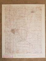 22x29 Vintage 1944 USGS Topo Map Marshall, Missouri Slater Napton Salt Fork