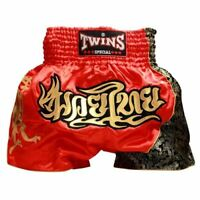 Twins Special Muay Thai Shorts - Red/Gold T-151