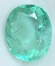 10.19 CT GENUINE NATURAL Colombian OVAL SHAPE EMERALD 15mmx13mm
