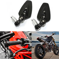 "Motorcycle 7/8"" Handle Bar End Mirrors For Ducati Hypermotard Monster Diavel USA"