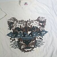 Pittsburgh Zoo Vintage 90s Graphic T Shirt Afri Cats USA Men's Large