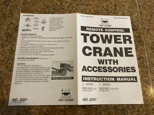 NEW BRIGHT REMOTE CONTROL TOWER CRANE INSTRUCTIONS