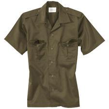 Camisas y polos de hombre de manga corta verde de poliéster