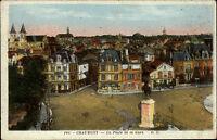 Chaumont Frankreich ~1900 Place de la Gare Denkmal Monument Panorama ungelaufen