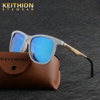 KEITHION Fashion Polarized Mens Womens Sunglasses Square Mirrored Glasses VU400