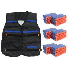 300pcs Bullets Darts+Tactical Vest Jacket for NERF N-Strike Elite Pistol Gun Toy