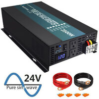 WZRELB 3500W Pure Sine Wave Inverter 24V to 110V 120V 7000w surge Car Truck Camp