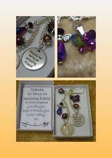Lucky Sixpence Thanks for being an Amazing Friend Crystal Butterfly Angel Beads