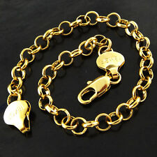 Gold G/F Solid Classic Design 25 Cm Belcher Anklet Bracelet Genuine 18 Ct Yellow