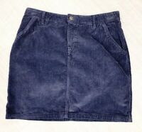 ladies Fat Face Mini Skirt Corduroy Navy Blue Size 10 Casual Occasion Blogger