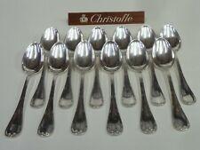 CHRISTOFLE RUBANS CROISES 12 CUILLERES DE TABLE t:21.50cm - très bel état