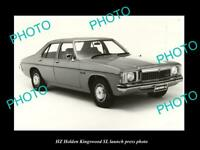 OLD 8x6 HISTORIC PHOTO OF THE HZ HOLDEN KINGSWOOD SL LAUNCH PRESS PHOTO