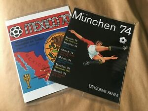 2 BRAND NEW SEALED 100% COMPLETE PANINI ALBUM FIFA WORLD CUP MEXICO 70 & MUNCHEN