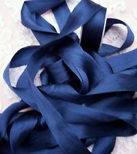 "100% PURE SILK /SATIN RIBBON ~NAVY/BLUE~COLOR 6 Y SPOOL 1""[25MM] WIDE FINAL LOTS"